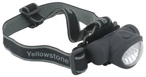 Yellowstone 8 + 2 LED Head Torch
