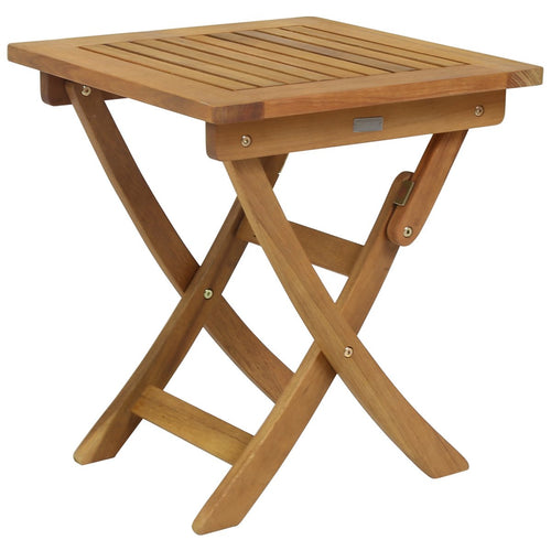 Charles Bentley Wooden Folding Square Side Table - Small