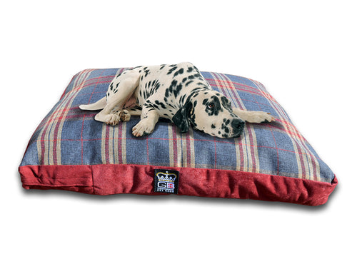 GB Pet Beds Dog Mattress Bed - Mayfair Granite Check Design