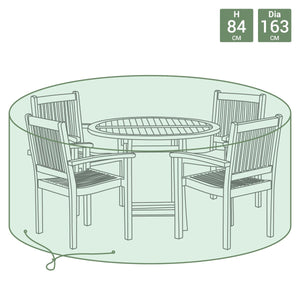 Charles Bentley Round 4 Seater Waterproof Patio Set Cover