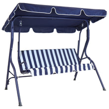 Charles Bentley 2 Seater Swing Seat Hammock Chair - Blue Striped