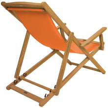 Charles Bentley Wooden Folding Deck Chair - 3 Colours