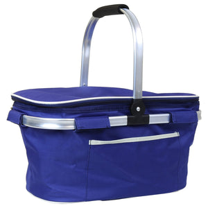 Charles Bentley 30L Insulated Cool Bag Picnic Basket - Blue