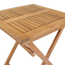 Charles Bentley Wooden Folding Square Patio Table