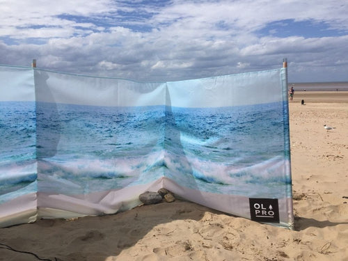 OLPRO The Beach Windbreak 5 Wooden Poles