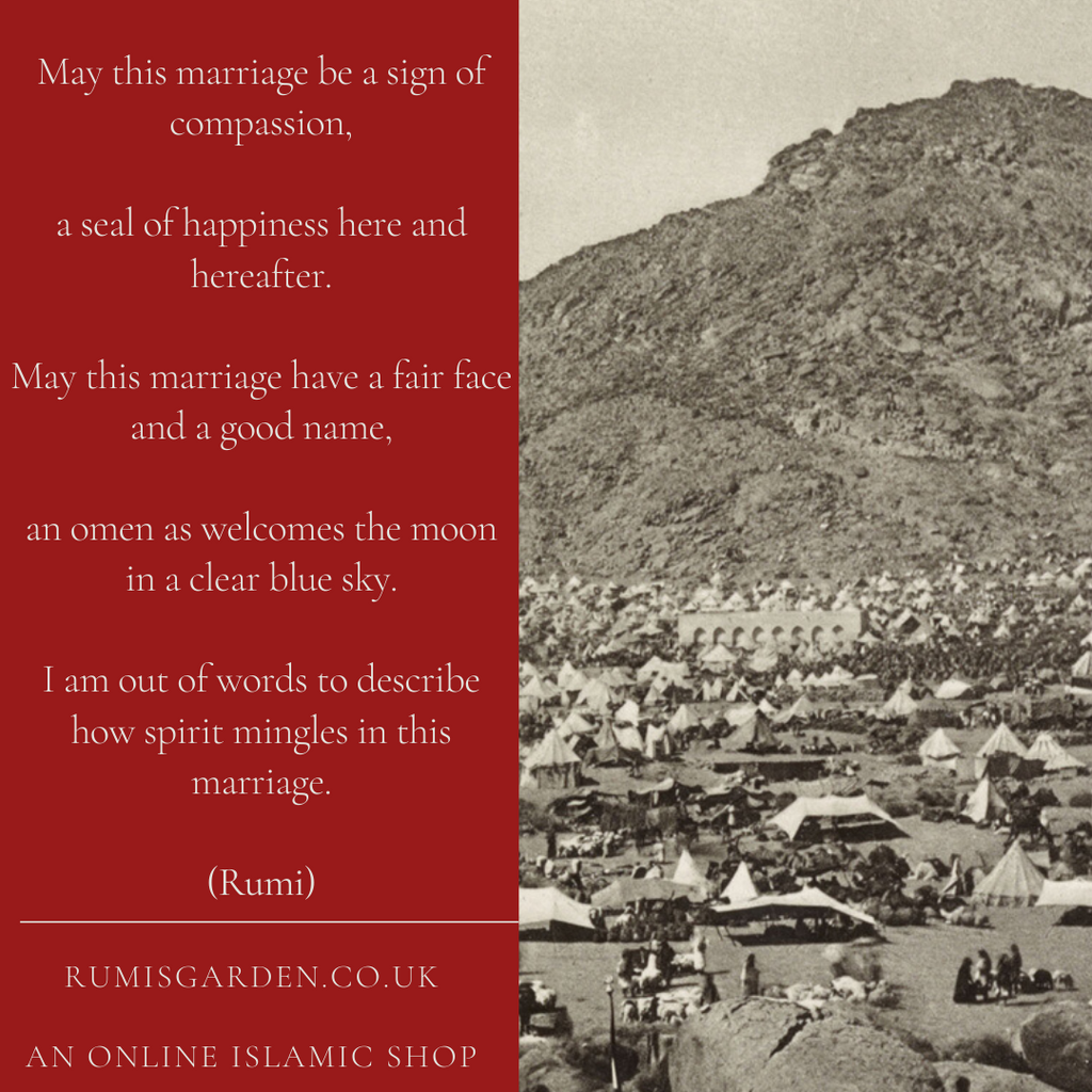 Rumi: May this marriage have a fair face and a good name