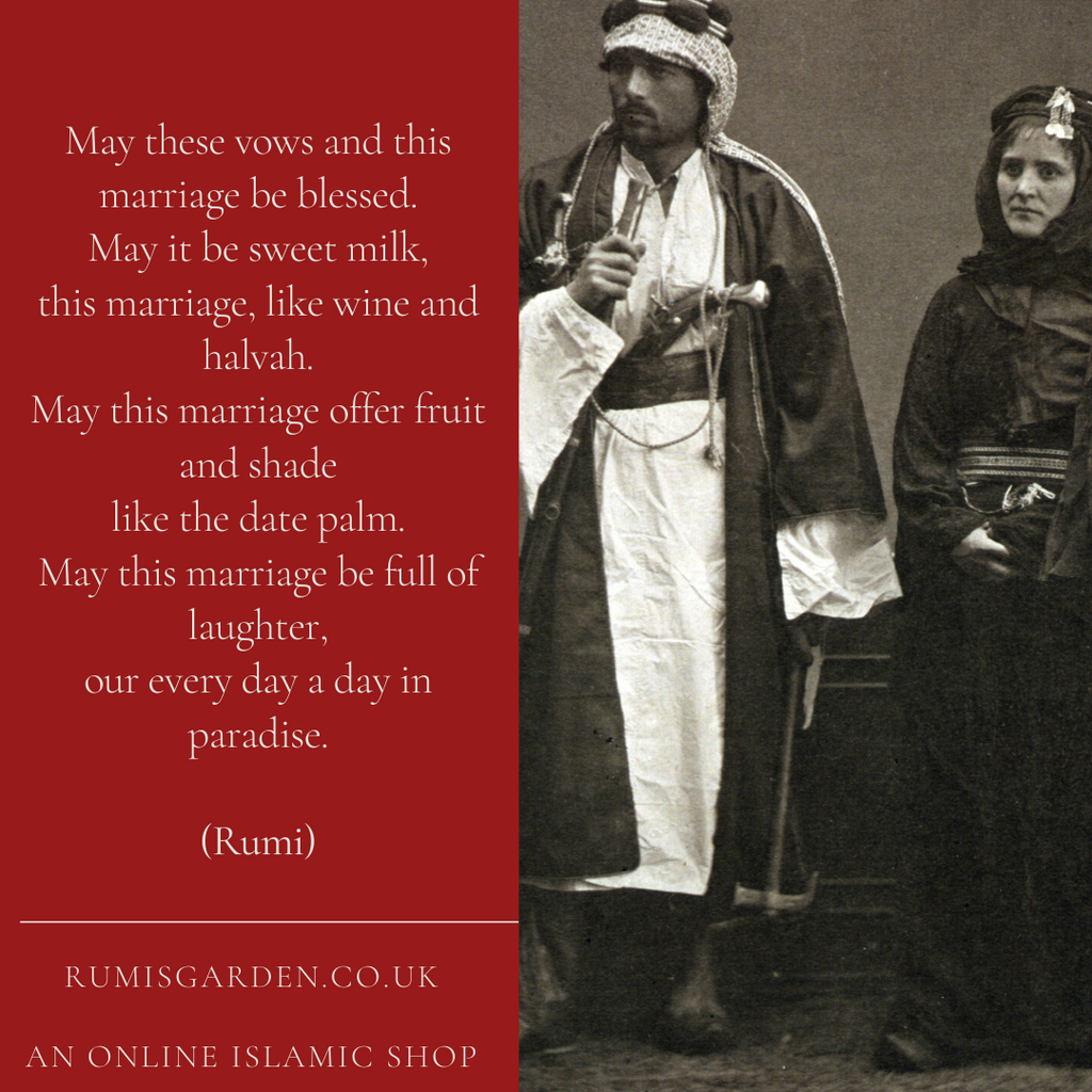 Rumi: May these vows and this marriage