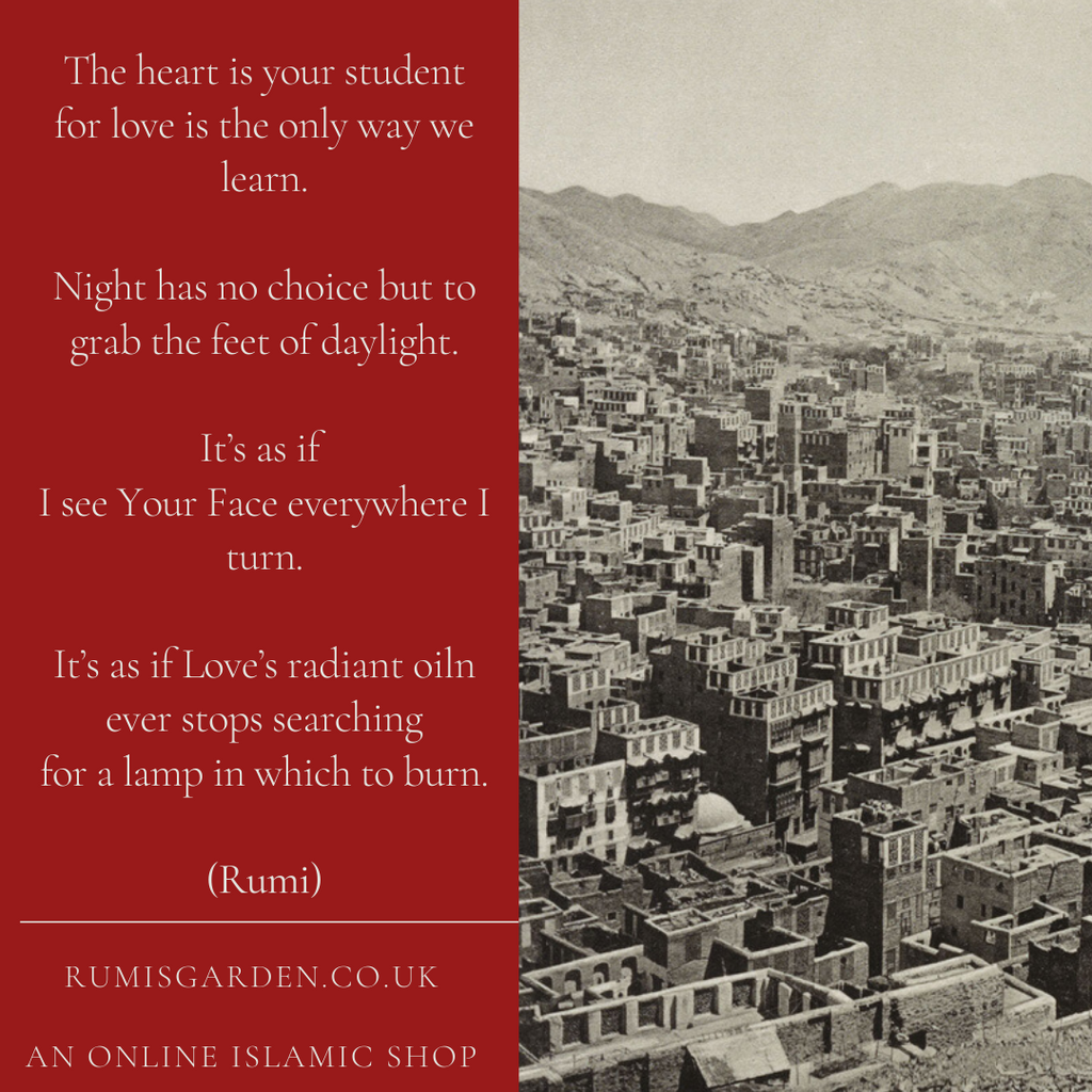 Rumi: The heart is your student
