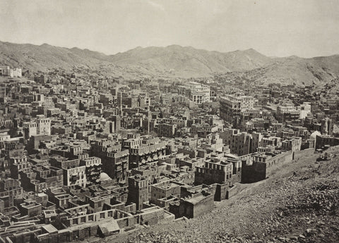 A view of the city of Mecca, circa 1887