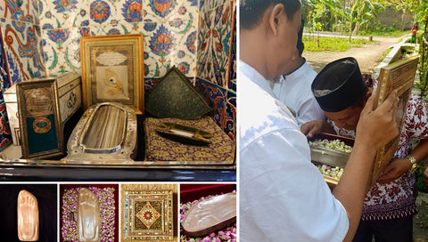 Replica of Blessed Footprint of Prophet Muhammad, donated by Rumi's Garden, to an orphanage in Indonesia.