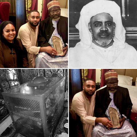 Donation of Blessed Footprint Replica of Prophet Muhammad made to the Tomb of the Shaykh Ibrahim Niasse al-Tijanni; Kaolack, Senegal
