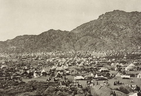 Photo: Pilgrims in the eastern part of the Mina Valley, circa 1887.