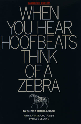 'When You Hear Hoofbeats Think of a Zebra' By Shems Friedlander (Author)
