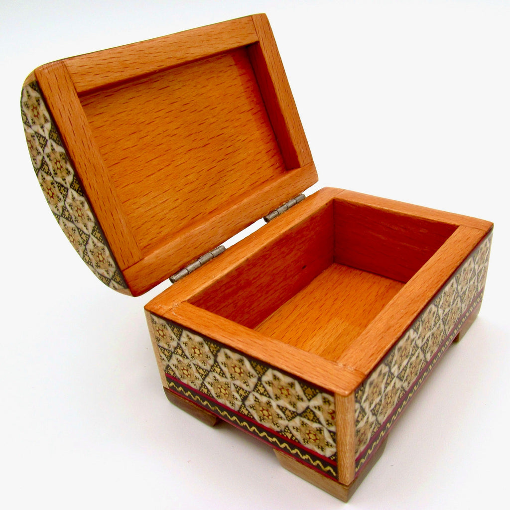 wood and inlay jewelry box