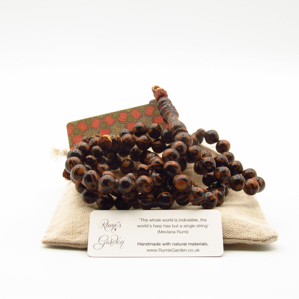Cinnamon prayer bead sold at Rumi's Garden