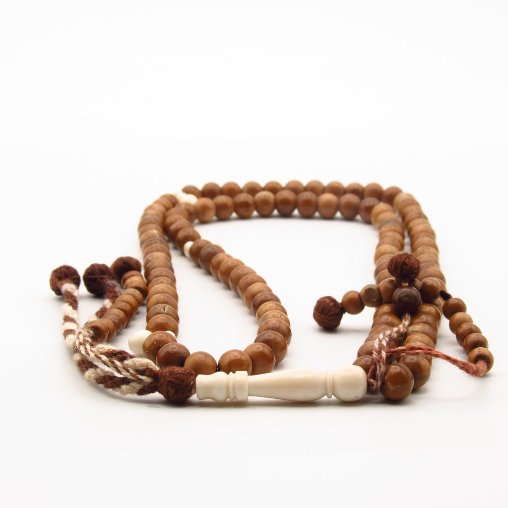 Kuk tasbih with camel bone and tassel for sale