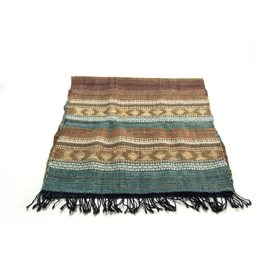 Hand-loomed Natural silk and wool Stole for women