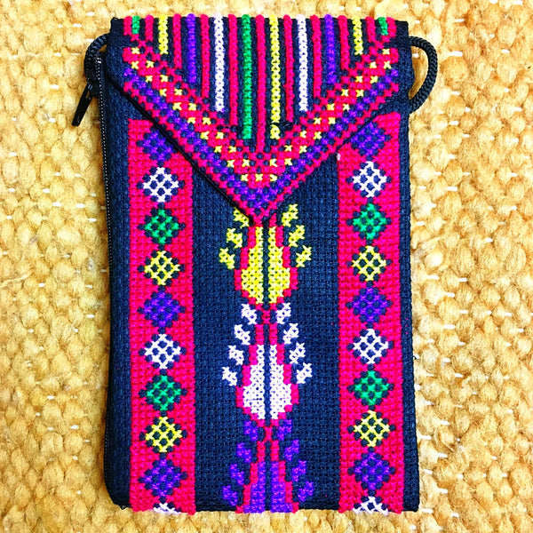 Embroidered wallet sold at www.RumisGarden.co.uk