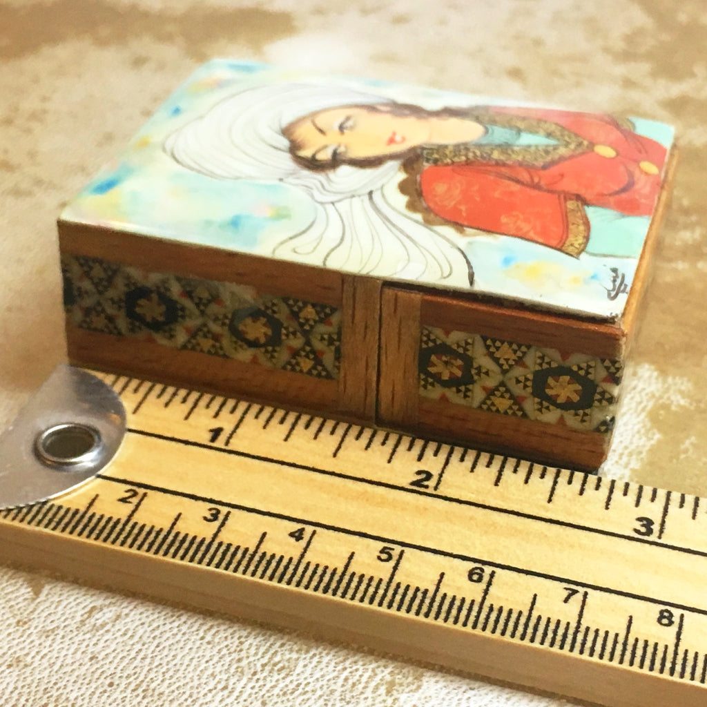 Marquetry Box sold at www.RumisGarden.co.uk