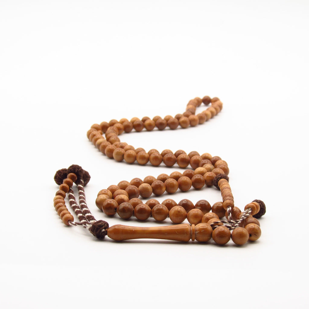 Kuk masbaha with brown and white tassel