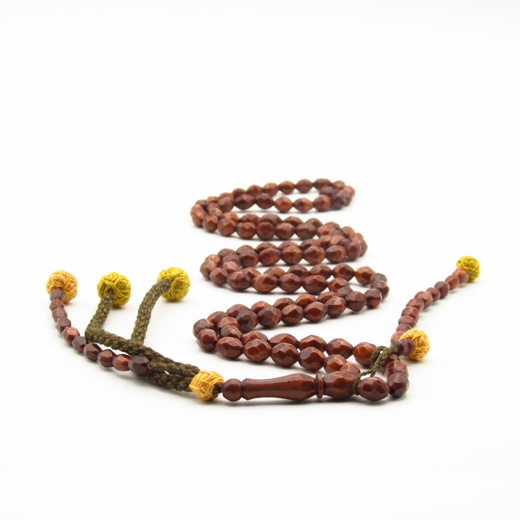 Large bead Coquilla Nut Prayer Bead