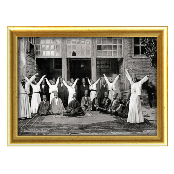 Sufi Mevlevi dervishes Rumi old photo