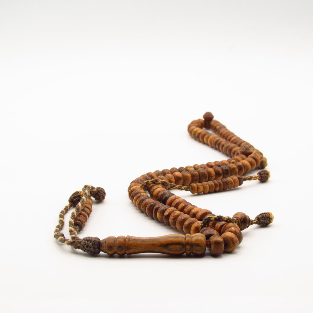 Handmade oud tasbih from Egypt Medium size