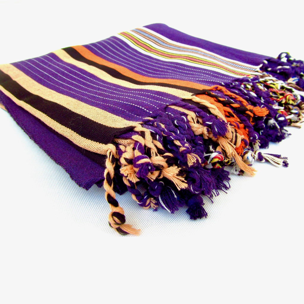 Purple Traditional Habirah Yemeni Shawl