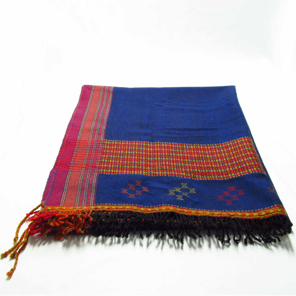 Indigo, Red, Rust, Pistachio, Black Shawl for men and women
