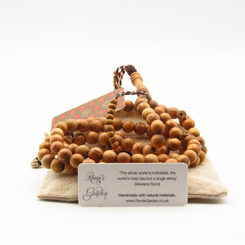 Olive wood masbaha with large beads