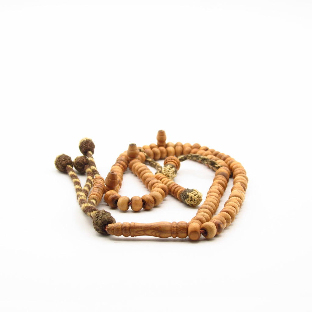 Olive wood prayer bead for sale at Rumi's Garden