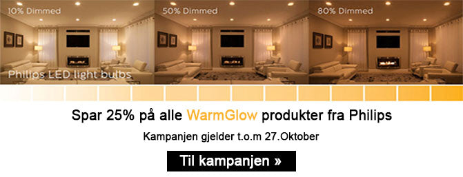Philips 3,8W (50W), warmglow dimbar GU10 LED, 6 pakning