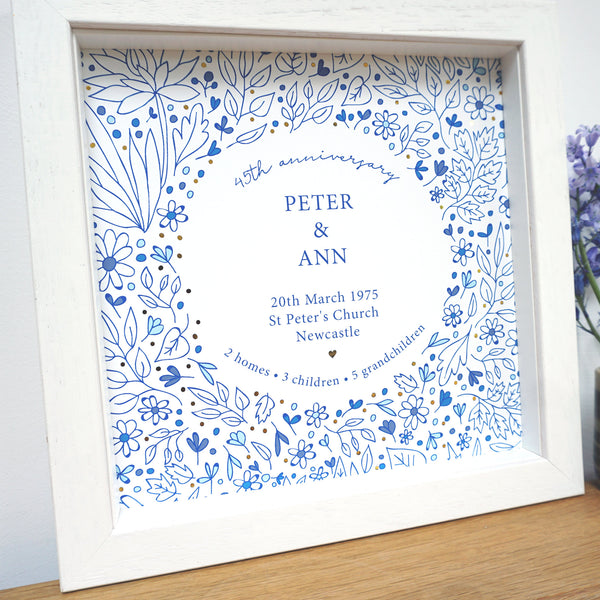 Personalised 45th Anniversary Frame - Ant Design Gifts