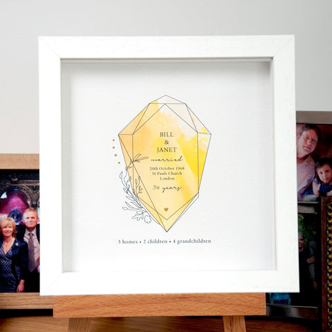 Personalised 50th Anniversary Gift - Ant Design Gifts