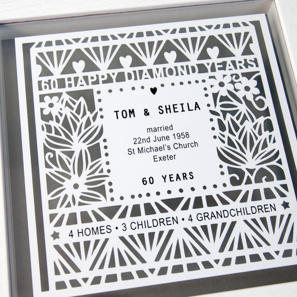 Personalised 60th Wedding Anniversary Gift - Ant Design Gifts