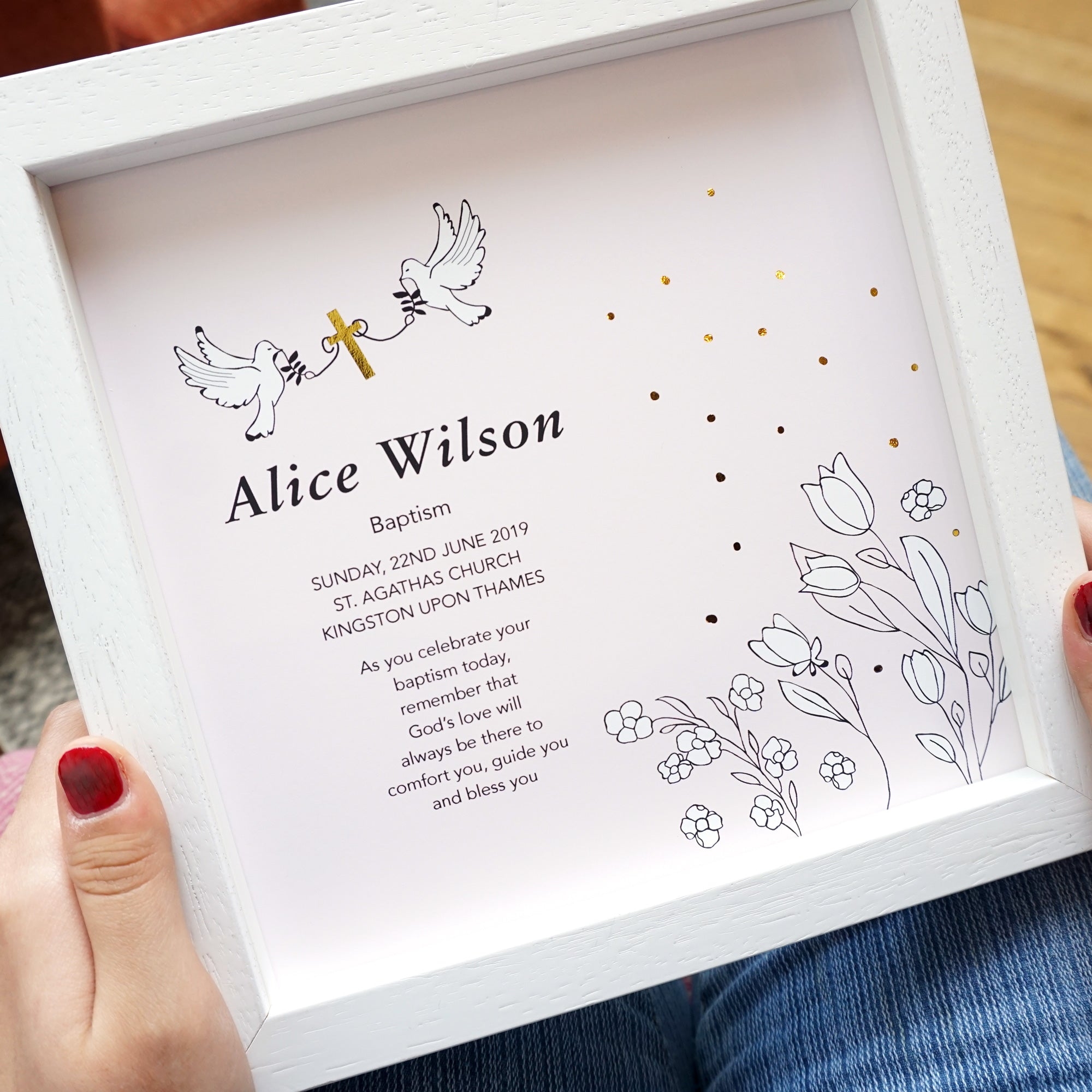 Personalised Baptism Art - Ant Design Gifts