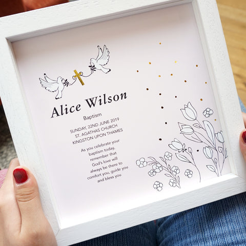 personalised baptism gift