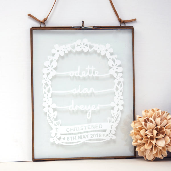 framed christening gift