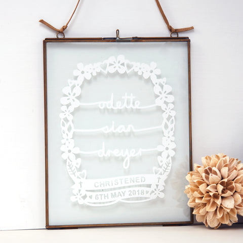 Framed Christening / Baptism / Holy Communion Gift