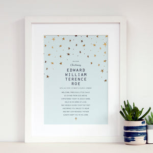 Personalised Christening Gift for Boy - Ant Design Gifts