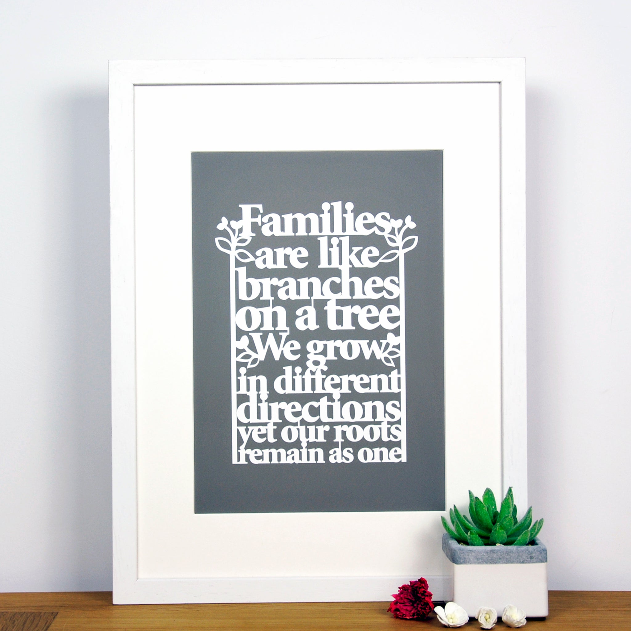 family tree quote art print