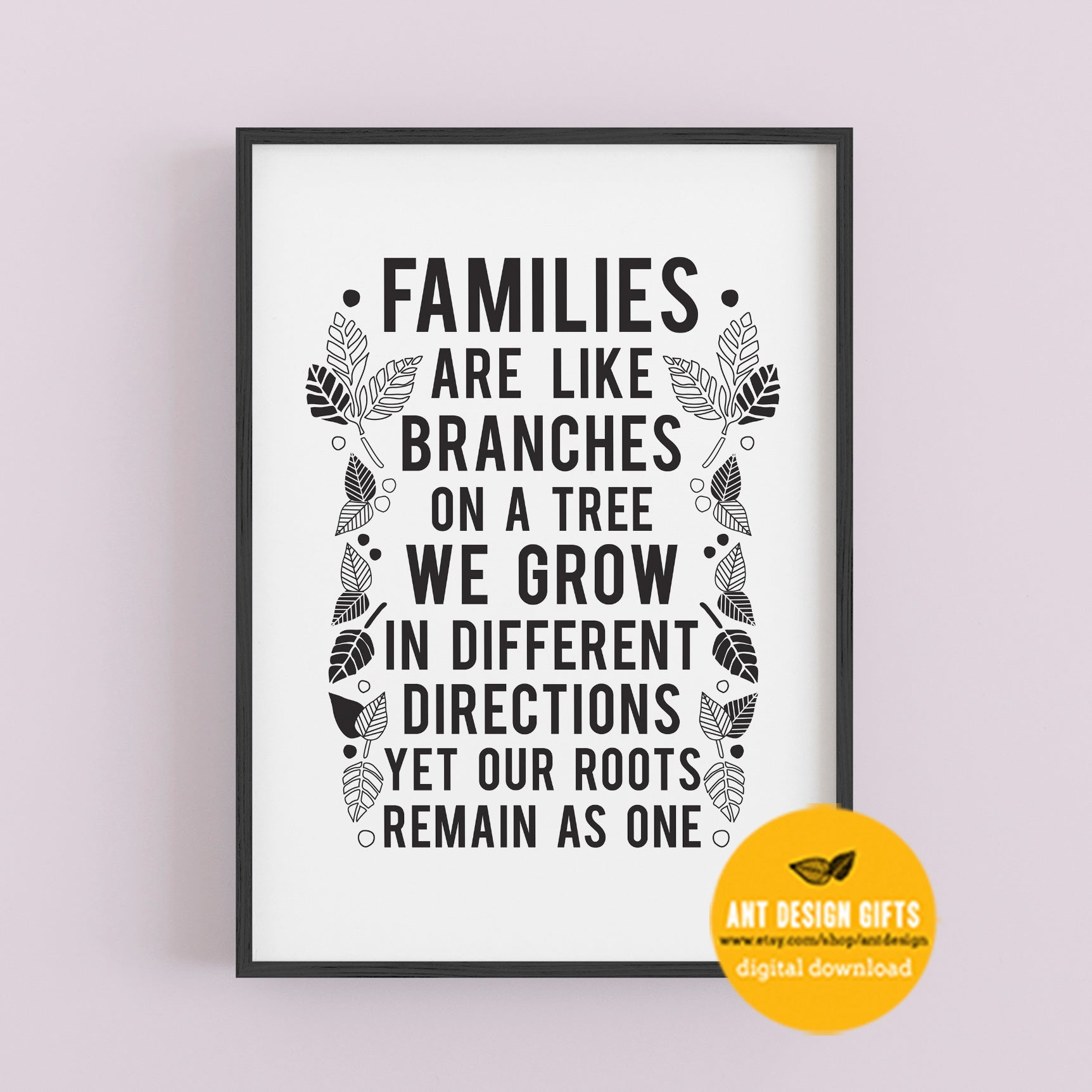 Digital Download - Family Tree Print - Ant Design Gifts