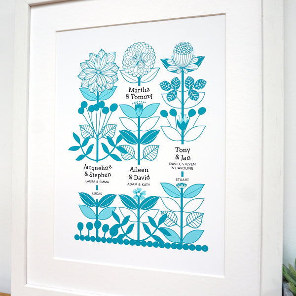 Personalised Family Tree Print for Great / Grandparents - Ant Design Gifts