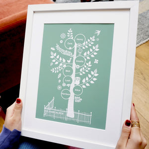 Personalised Nanny or Nana Family Tree Gift
