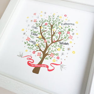 Personalised Family Tree Frame - Ant Design Gifts