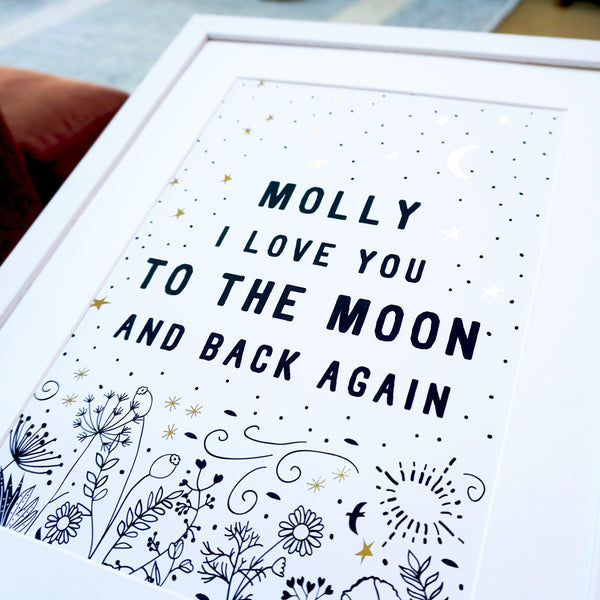 I Love You to the Moon and Back Again - Ant Design Gifts
