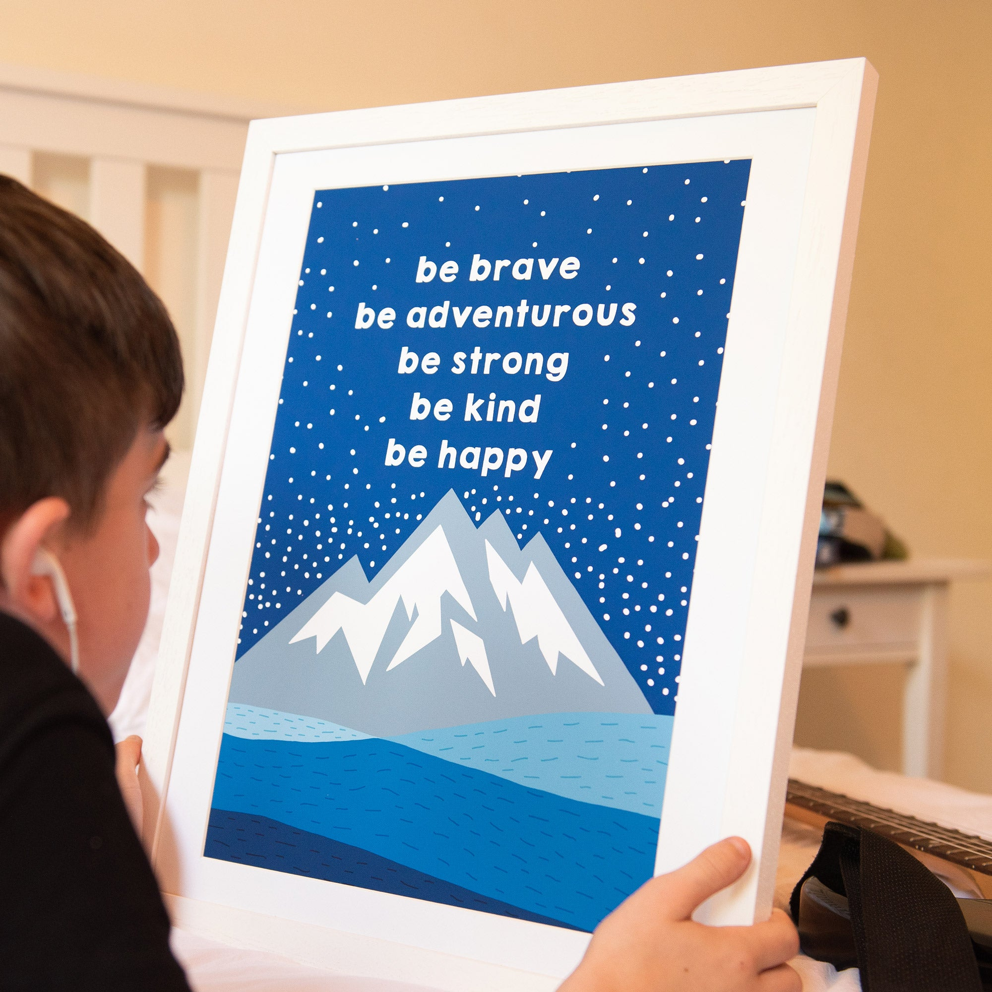 Be Brave, Be Adventurous Art Print - Ant Design Gifts