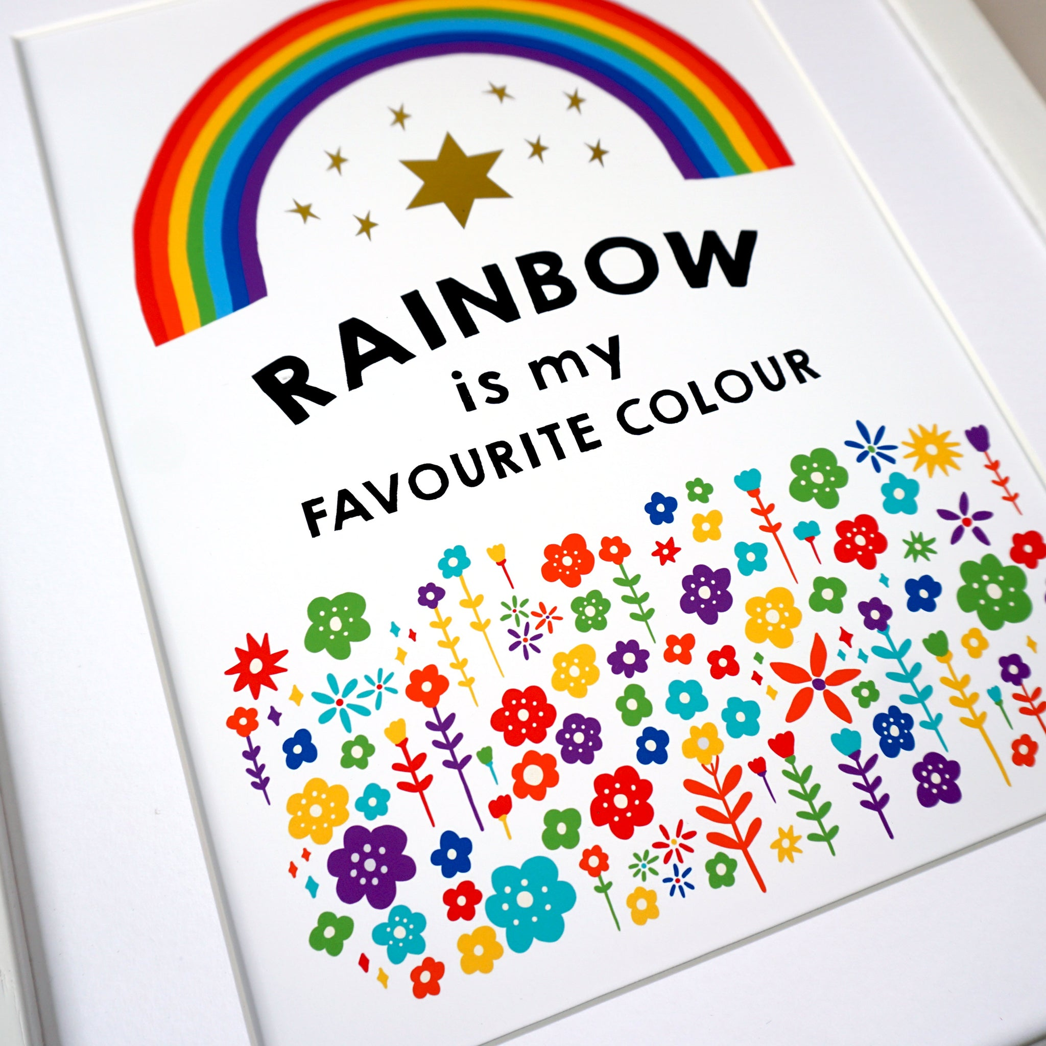 Rainbow is my Favourite Colour Art Print - Ant Design Gifts