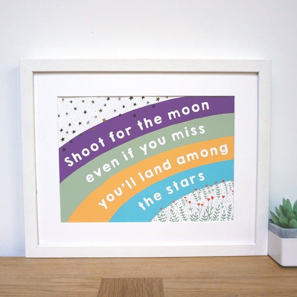 Shoot for the Moon Rainbow Print - Ant Design Gifts