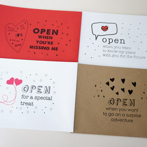Valentines Open When Envelopes - Ant Design Gifts